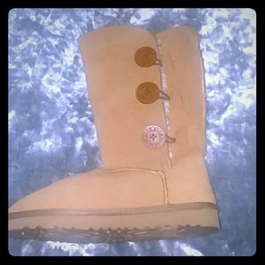 Ugg Camel Button Boots